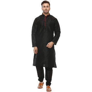 Lee Marc Mens Black Straight Fit Sherwanis