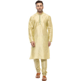 Lee Marc Mens Golden Straight Fit Sherwanis