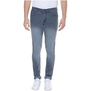 Urbano Fashion Men's Stretchable Slim Fit Grey Jeans