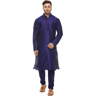 Hangup Mens Blue Straight Fit Sherwanis