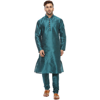 Lee Marc Mens Green Straight Fit Sherwanis