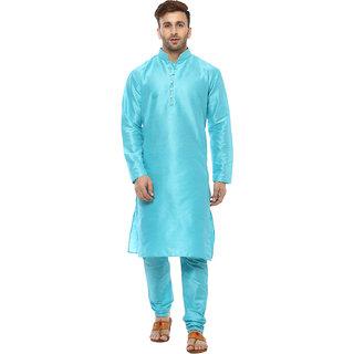 Lee Marc Mens Blue Straight Fit Sherwanis