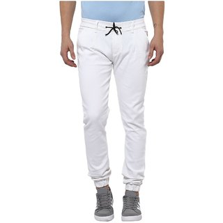 Urbano Fashion Men's Stretchable Slim Fit White Jeans