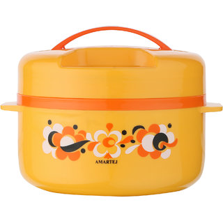 Amartej Prestige Plus 1800 Casserole Insulated Hot Box - Orange