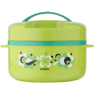 Amartej Prestige Plus 1800 Casserole Insulated Hot Box - Green
