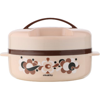 Amartej Prestige 1300 Casserole Insulated Hot Box - Brown
