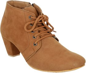 Exotique Women's Tan Casual Boot (EL0040TN)