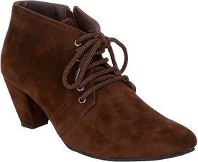 Exotique Women's Brown Casual Boot (EL0040BR)