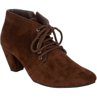 Exotique Womens Brown Casual Boot (EL0040BR)