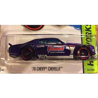 2014 HOT WHEELS HW Workshop 70 Chevy Chevelle Purple 243/250