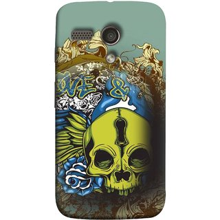 FUSON Designer Back Case Cover for Motorola Moto G :: Motorola Moto G (1st Gen) :: Motorola Moto G Dual (Sugar  Drawing Keyhole Scary Day Of The Dead Craft )