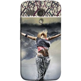 FUSON Designer Back Case Cover for Motorola Moto G :: Motorola Moto G (1st Gen) :: Motorola Moto G Dual (Beautiful Female Standing Relaxing Enjoying Moment)