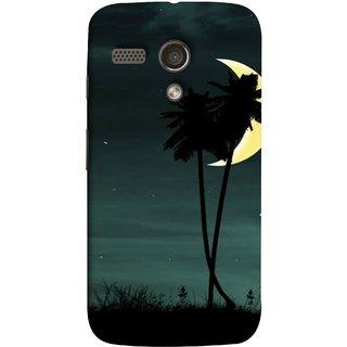 FUSON Designer Back Case Cover for Motorola Moto G :: Motorola Moto G (1st Gen) :: Motorola Moto G Dual (Coconut Trees Beautiful Moon Stars Light Evening )