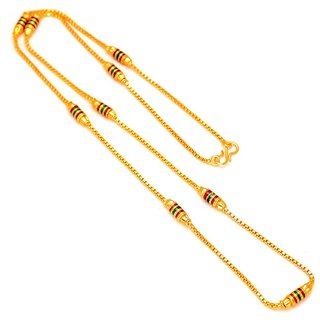 Sparkling Jewellery Neck Designer Gold Plated 30 inch Chain