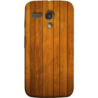 FUSON Designer Back Case Cover for Motorola Moto G :: Motorola Moto G (1st Gen) :: Motorola Moto G Dual (Unique Wooden Pine Background Vintage Table Tiles)
