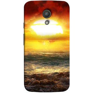 FUSON Designer Back Case Cover for Motorola Moto G2 :: Motorola Moto G (2nd Gen)  (Sunshine Bright Day Sunny Clouds Fuzzy Waves Long )
