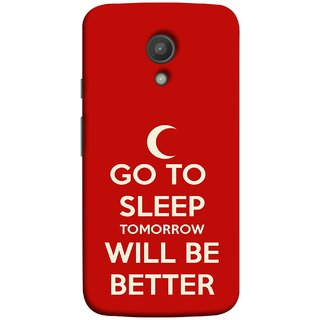 FUSON Designer Back Case Cover for Motorola Moto G2 :: Motorola Moto G (2nd Gen)  (Moon Night Rest Relax Tomorrow Will All Fine )