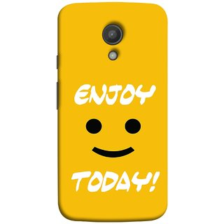FUSON Designer Back Case Cover for Motorola Moto G2 :: Motorola Moto G (2nd Gen)  (Big Smiley Smiling Positive Wallpaper Back Cover)