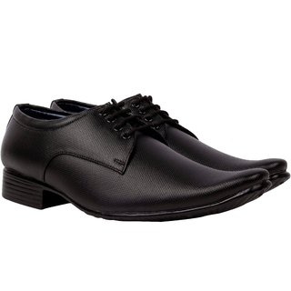 Smoky Men's Black Lace-up Derby Formal Shoes