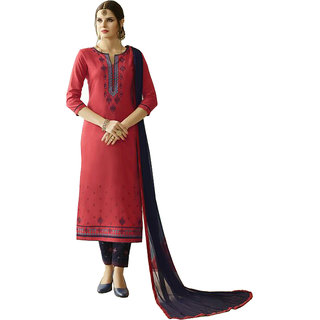 d765756f65 Buy COTTON WITH EMBROIDERY WORK TOP,BORDER WORK BOTTOM WITH NAZNEEN DUPATTA  Online - Get 52% Off