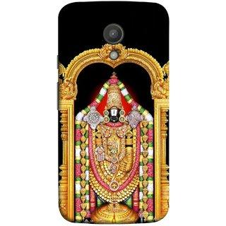 FUSON Designer Back Case Cover for Motorola Moto G2 :: Motorola Moto G (2nd Gen)  (South Rich God Mandir Tirupathi Balaji Gold )