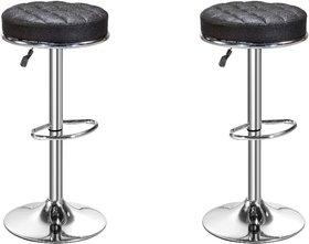 Da URBAN Set of 2 Height Adjustable Stool (Kitchen Stool, Office Stool, Cafeteria Stool, Bar Stool) Black