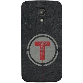 FUSON Designer Back Case Cover for Motorola Moto G2 :: Motorola Moto G (2nd Gen)  (Dark Alphabet Circle Vintage Grey Circle Pattern T)