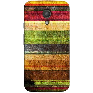 FUSON Designer Back Case Cover for Motorola Moto G2 :: Motorola Moto G (2nd Gen)  (Horizontal Rainbow Painted Brush Strokes Art)