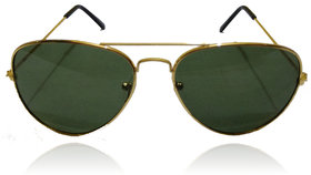A ICONIC Inc Green Lens with Golden Metal Frame (DOSI-A-002)