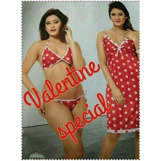 Valentine special Bedroom Nighty