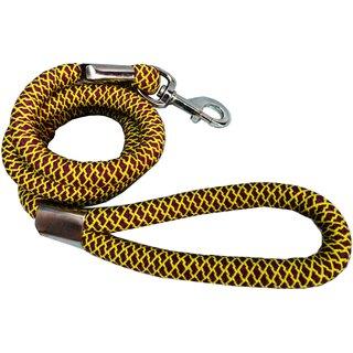 Petshop7 High Quality Large Handle Grip Spiral Dog Leash Rope 18MM 162 cm Dog Cord Leash  (Black)