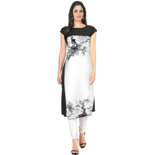Digital Printed straight cut Crepe Kurti by Glance Deisgns Women