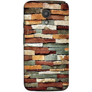 FUSON Designer Back Case Cover for Motorola Moto G2 :: Motorola Moto G (2nd Gen)  (Wall Of Multiple Colored Stone Used As A Background)