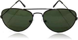 A ICONIC Inc Green Lens with Sliver Metal Frame (DOSI-A-003)