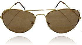 A ICONIC Inc Brown Lens with Golden Metal Frame (DOSI-A-004)