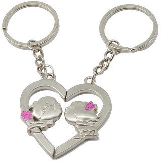 Faynci Fashion Love Heart Couple Key chain