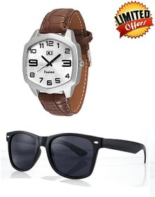 X5 Fusion Combo of Watch W0234  Unisex Shades