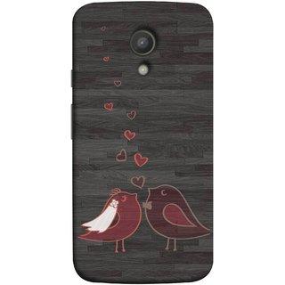 FUSON Designer Back Case Cover for Motorola Moto G2 :: Motorola Moto G (2nd Gen)  (Lovely Pair Of Cute Birds Kissing Hairband )