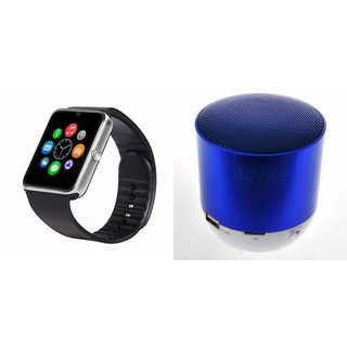 Mirza GT08 Smart Watch and Hopestar H9 Bluetooth Speaker for PANASONIC P11(GT08 Smart Watch with 4G sim card, camera, memory card |Hopestar H9 Bluetooth Speaker  )