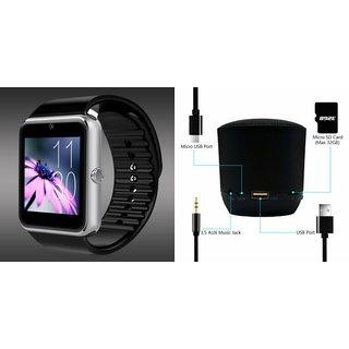 Mirza GT08 Smart Watch and Hopestar H9 Bluetooth Speaker for HTC DESIRE 828 DUAL SIM(GT08 Smart Watch with 4G sim card, camera, memory card |Hopestar H9 Bluetooth Speaker  )