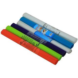 Anti Slip Mat, Shelf Liner, Table Runner, NonSlip Placemat, Drawer Mat, Cupboard Full length 1.50 Mtr.Multicolor