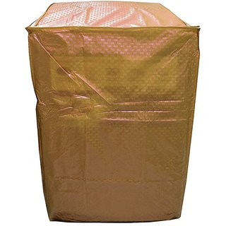 Khushi Creation Gold Colour With Square Design Top Load Washing Machine Cover (Suitable For 6 kg, 6.5 kg, 7 kg, 7.5 kg)