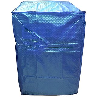Khushi Creations Blue Colour With Square Design Top Load Washing Machine Cover (Suitable For 6 kg, 6.5 kg, 7 kg, 7.5 kg)