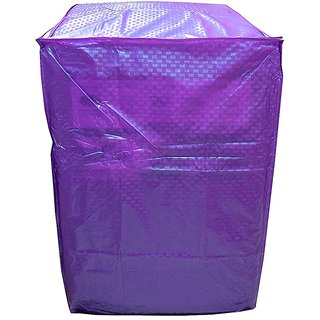 Khushi Creation purple Colour With Square Design Top Load Washing Machine Cover (Suitable For 6 kg, 6.5 kg, 7 kg, 7.5 kg