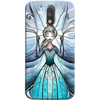 FUSON Designer Back Case Cover for Motorola Moto G4 :: Moto G (4th Gen) (The Blue Rose Doll Baby Girl Nice Dress Long Hairs )