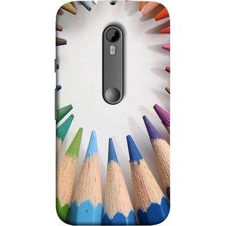 FUSON Designer Back Case Cover for Motorola Moto G3 :: Motorola Moto G (3rd Gen) :: Motorola Moto G3 Dual SIM (Color Circle Bunch Of Pencil Boys Girls Childrens School)