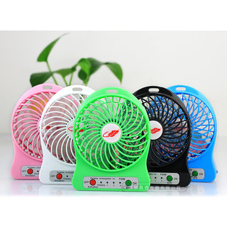 Super High Speed Cooler Portable Fan Rechargeable MINI USB FAN  Multicolor