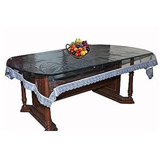 Khushi creations table cover for DINNING table silver lace
