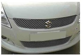 Front Stylish Silver Chrome Color Grill For Maruti Swift 2009-2010 Set Of 2 Pcs.