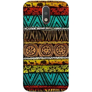 FUSON Designer Back Case Cover for Motorola Moto G4 :: Moto G (4th Gen) (Patterns Horizontal Stripes Bedsheet Design Cloths)